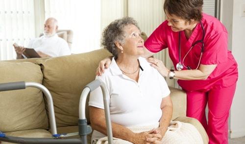 пансионате для пожилых людей и инвалидов